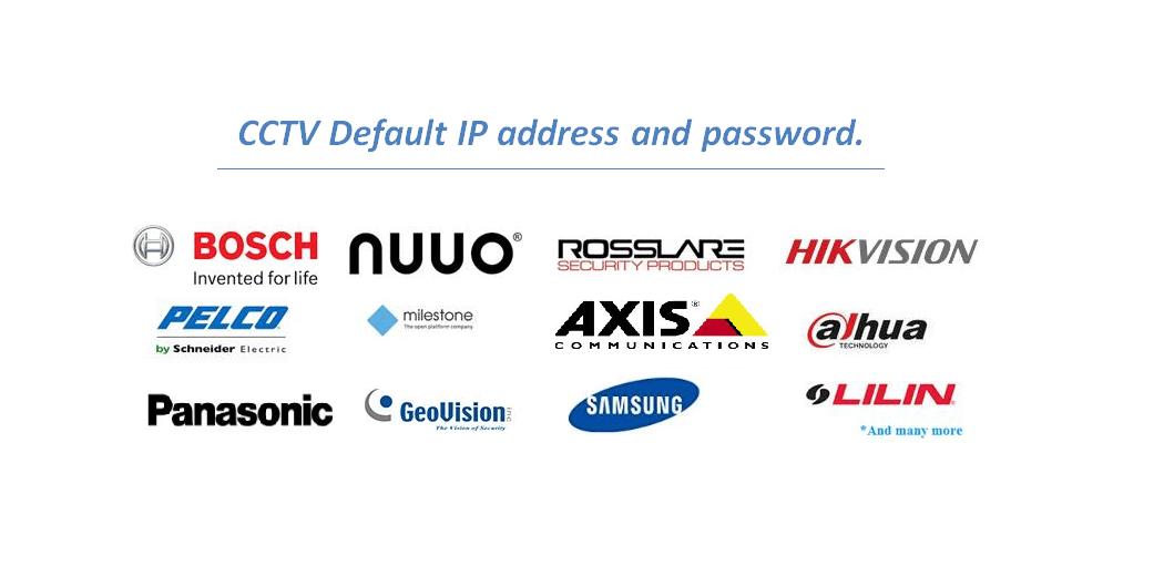 Top 30 cctv default password, username and IP address list